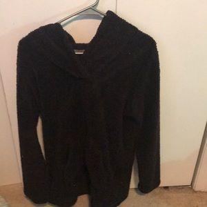 A Black Fluffy Pullover